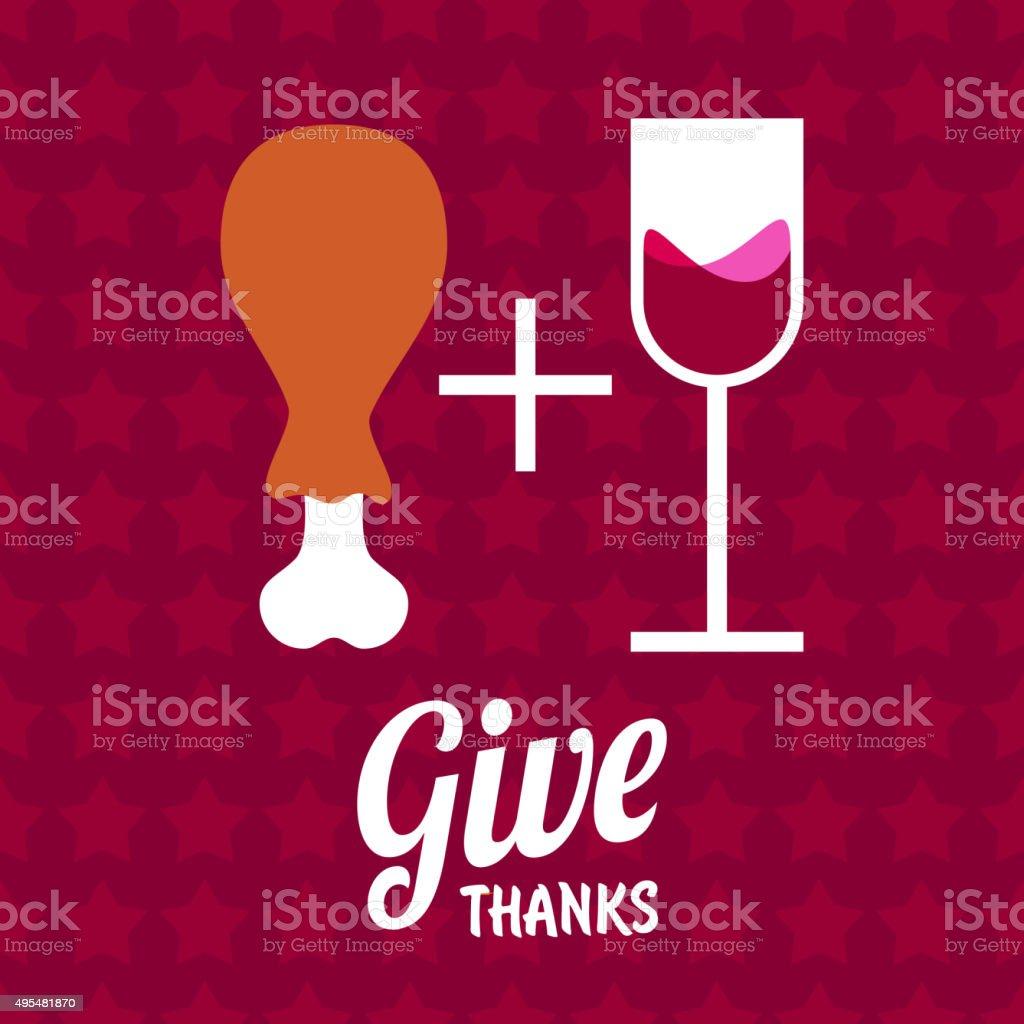 Give Thanks vector art illustration