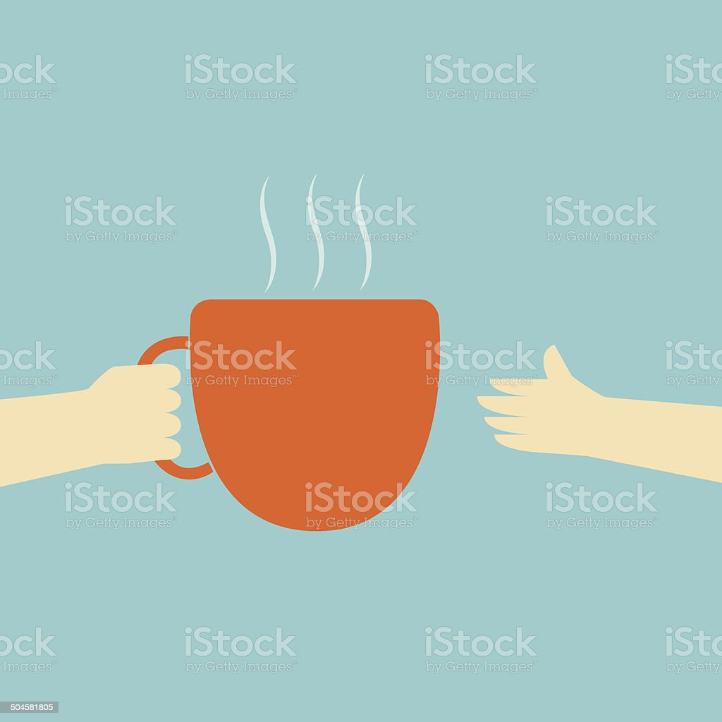 Give The Coffee Cup vector art illustration