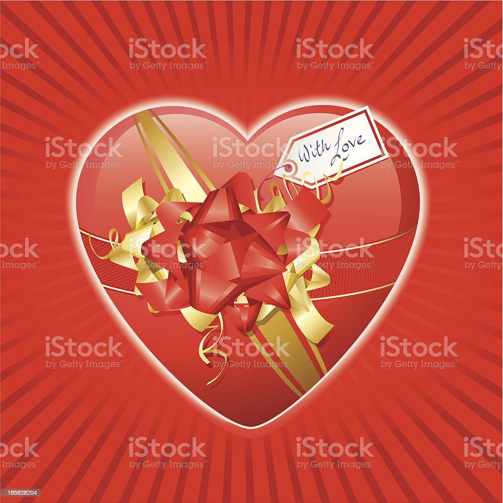 I Give You My Heart - Valentine's day royalty-free stock vector art