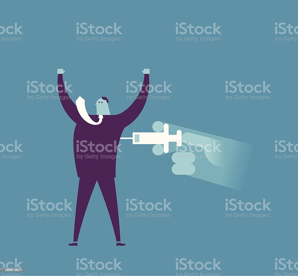 Give you power vector art illustration