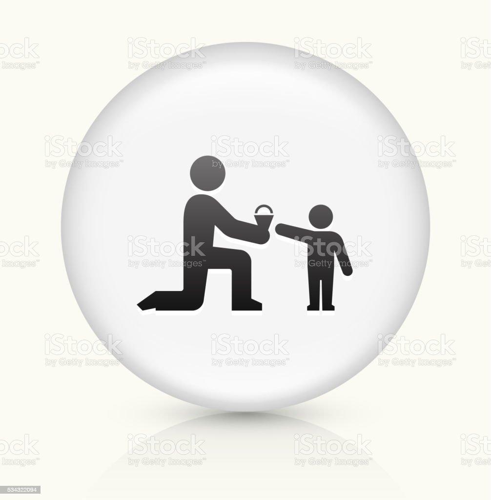 Giving Ice-cream icon on white round vector button vector art illustration