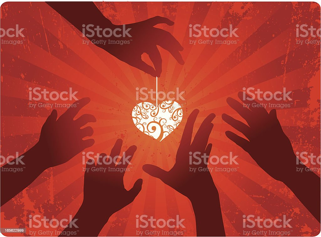 Giving Love royalty-free stock vector art