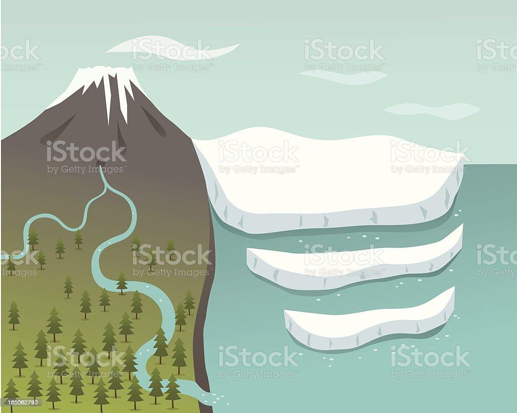 Glacier royalty-free stock vector art