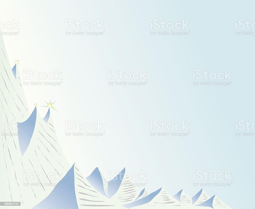 Glaciers. royalty-free stock vector art