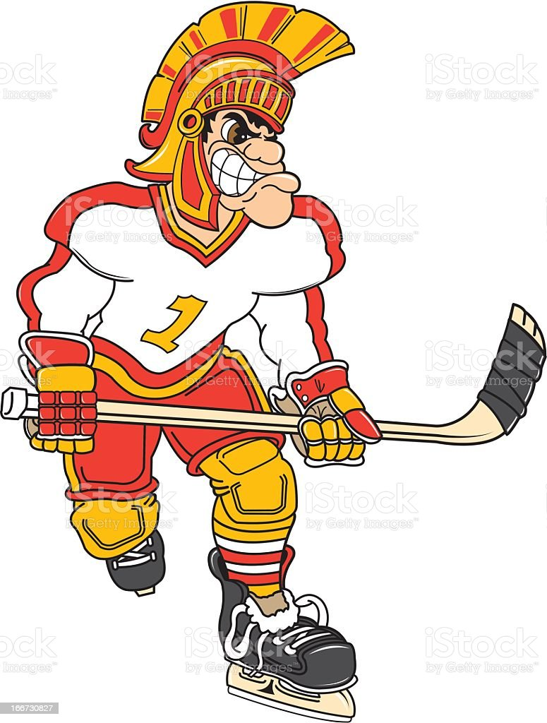 Gladiator Playing Hockey royalty-free stock vector art