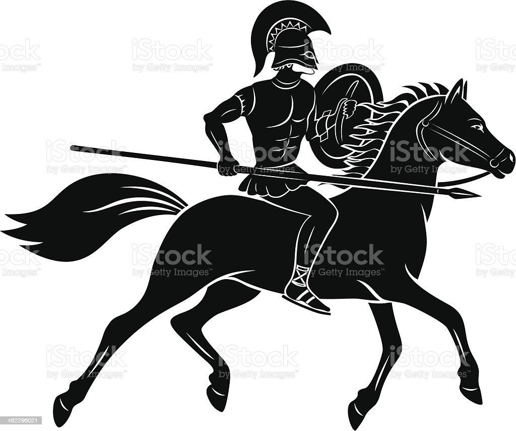 gladiator vector art illustration