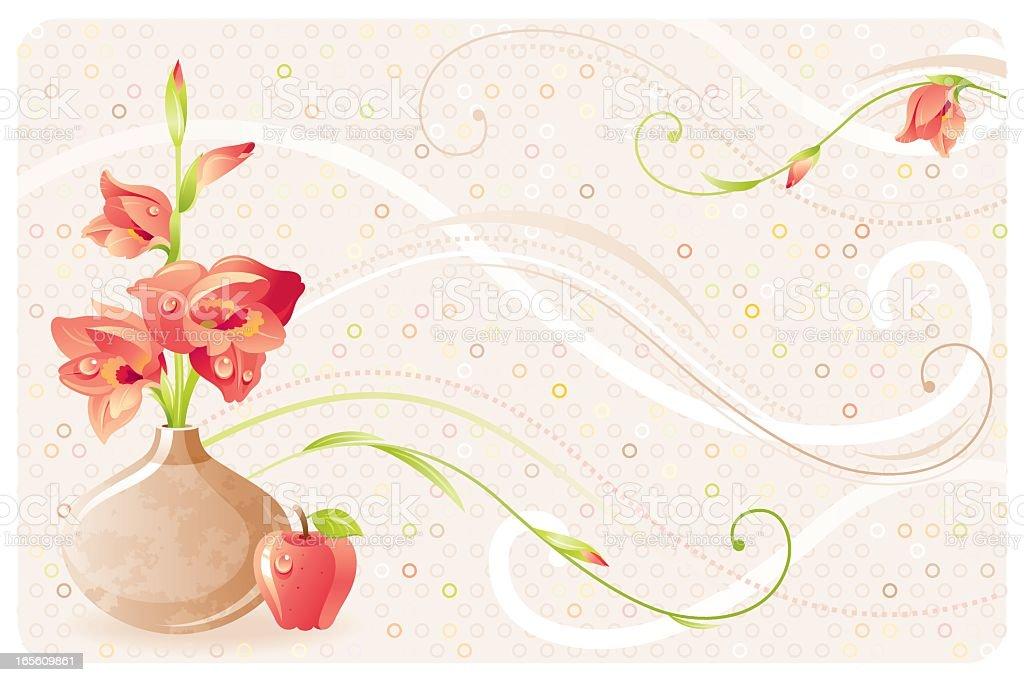 Gladiolus bouquet vector art illustration