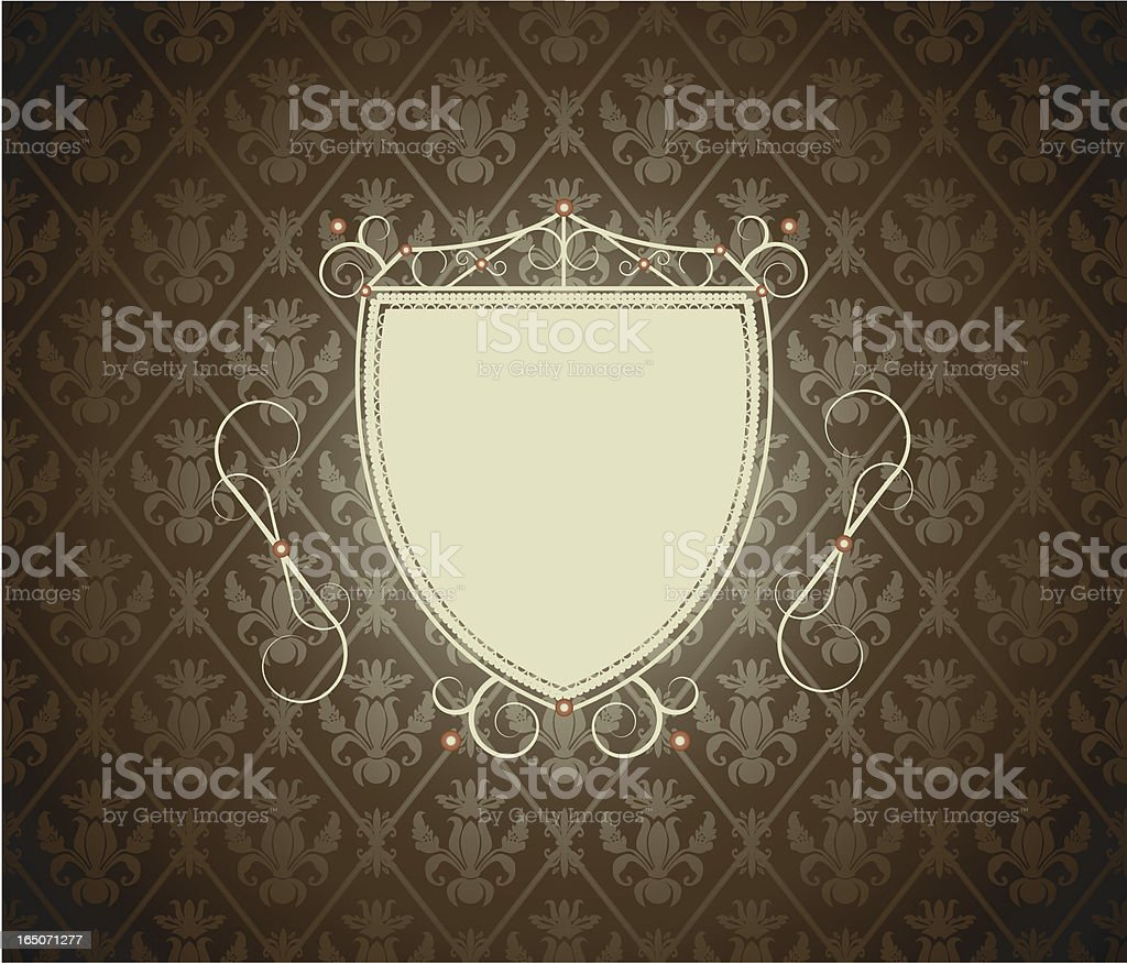 Glam vintage sheild royalty-free stock vector art