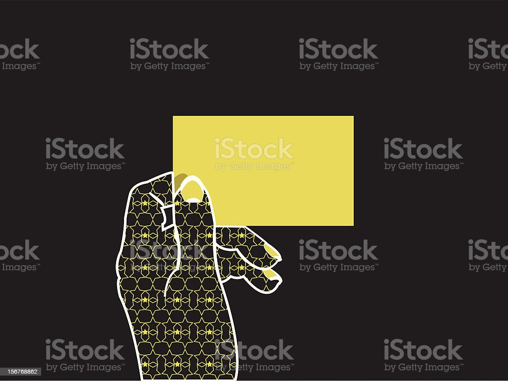 Glamorous hand holding card royalty-free stock vector art