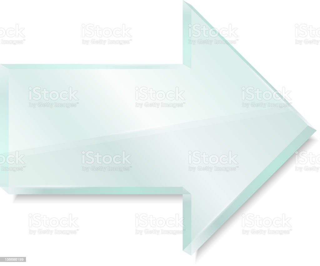 Glass Arrow royalty-free stock photo
