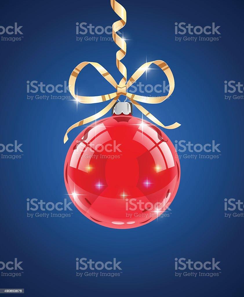 Szkło piłka. Dekoracje na Boże Narodzenie firtree stockowa ilustracja wektorowa royalty-free