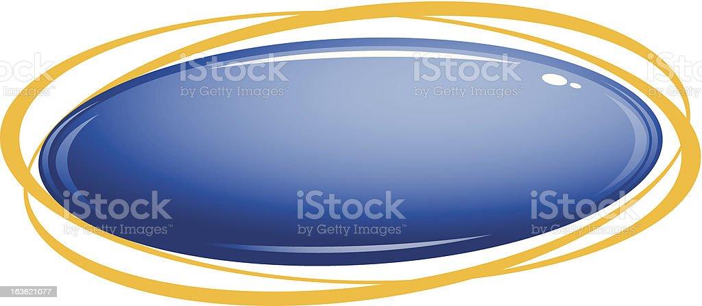 Glass Blue Button vector art illustration