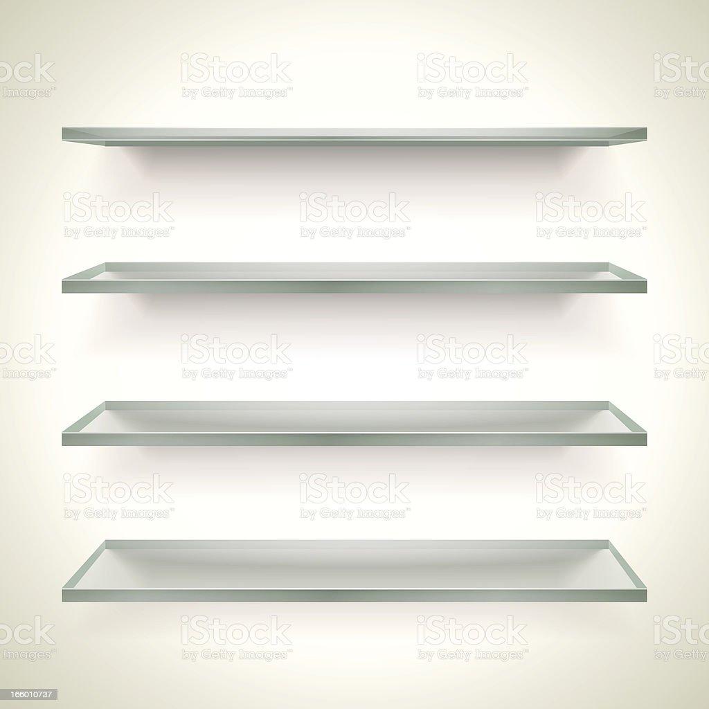 Glass Bookshelves royalty-free stock vector art