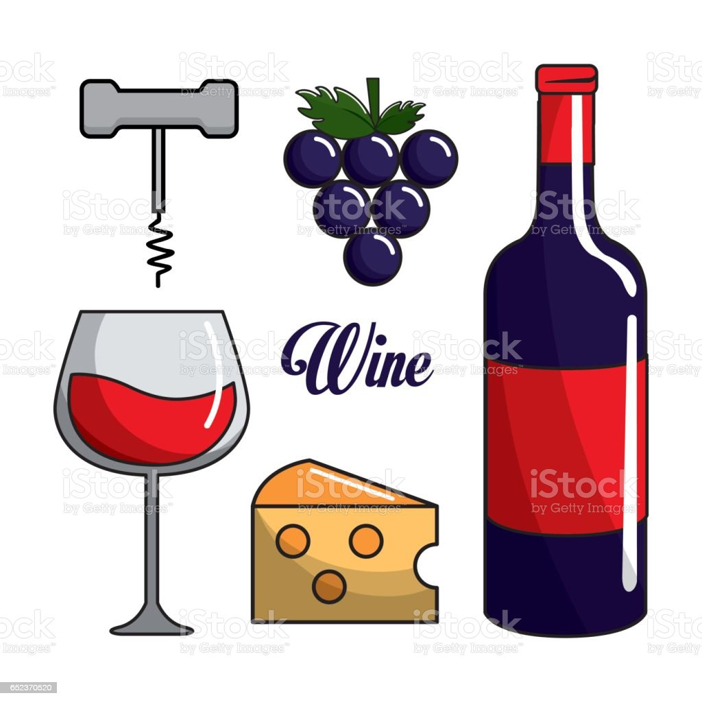Glass bottle of wine grape cheese and take out cork stock for Glasses made out of bottles