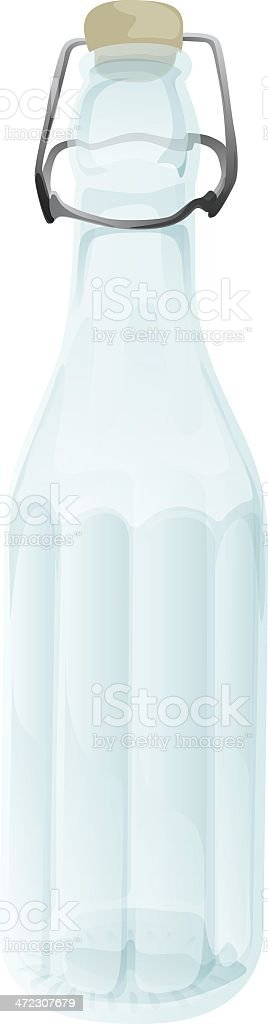 Glass bottle with flip-top royalty-free stock vector art