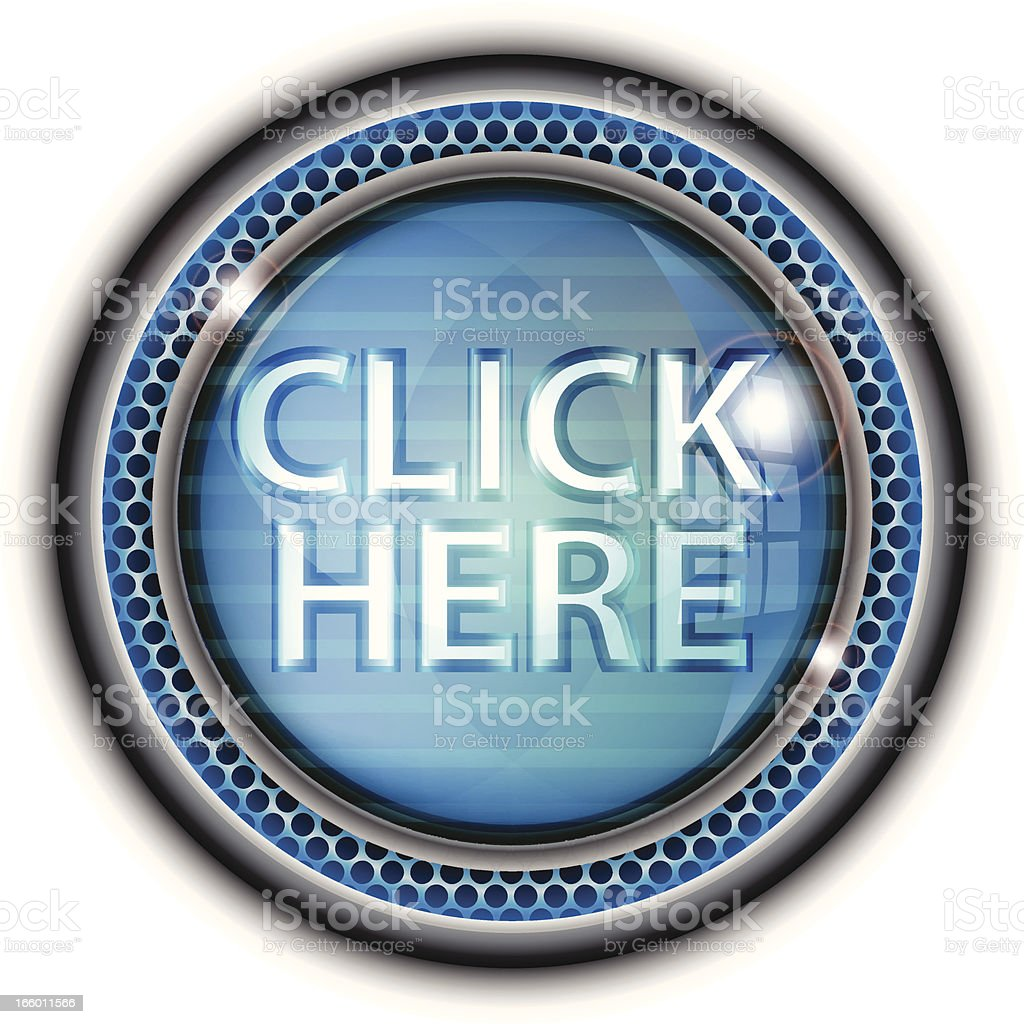 Glass Button | Click Here royalty-free stock vector art