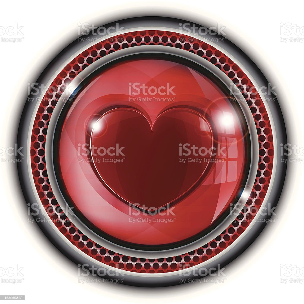 Glass Button | Heart royalty-free stock vector art