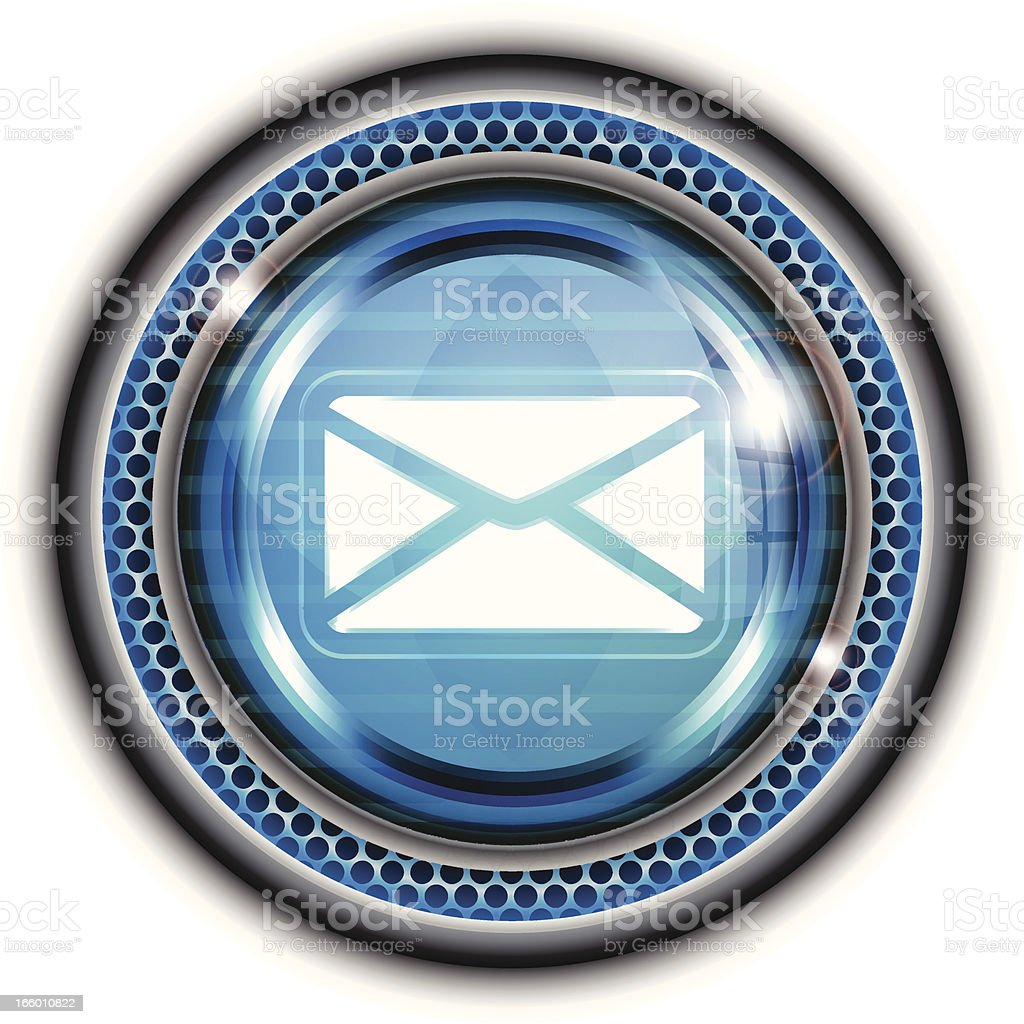 Glass Button   Mail Symbol royalty-free stock vector art