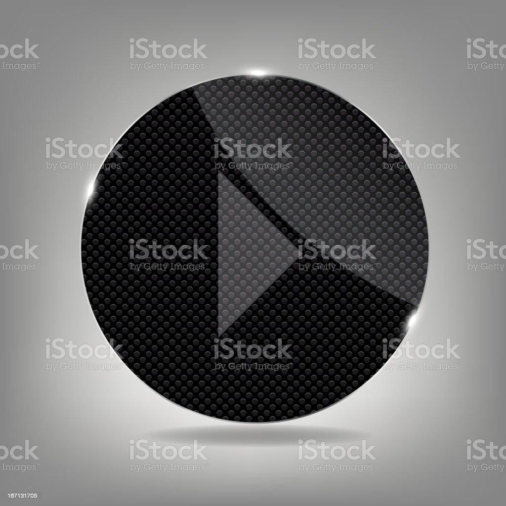 Glass button media icon.  Vector illustration royalty-free stock vector art