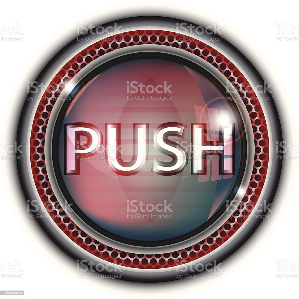 Glass Button | Push royalty-free stock vector art