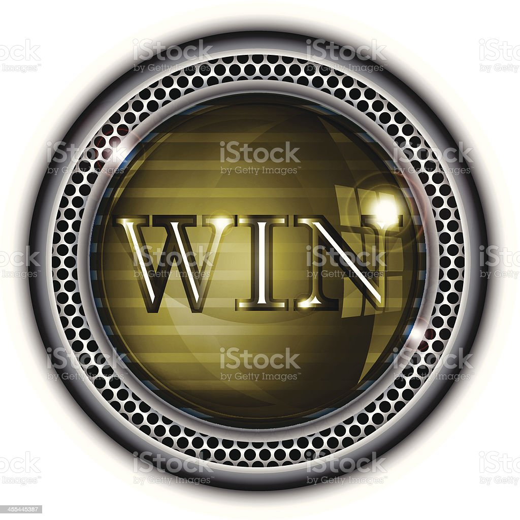 Glass Button |Win royalty-free stock vector art