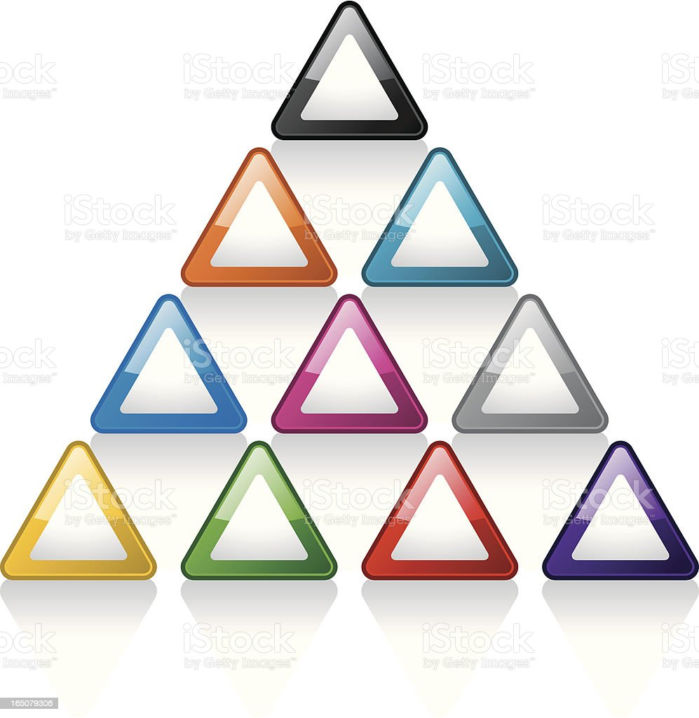 Glass Buttons: Pyramids royalty-free stock vector art
