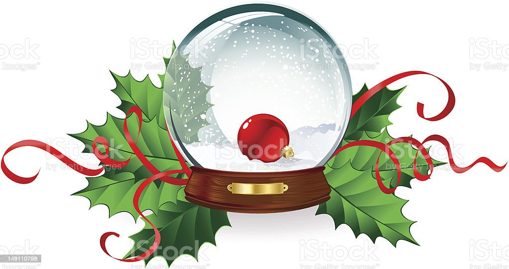 Glass christmas snowball royalty-free stock vector art