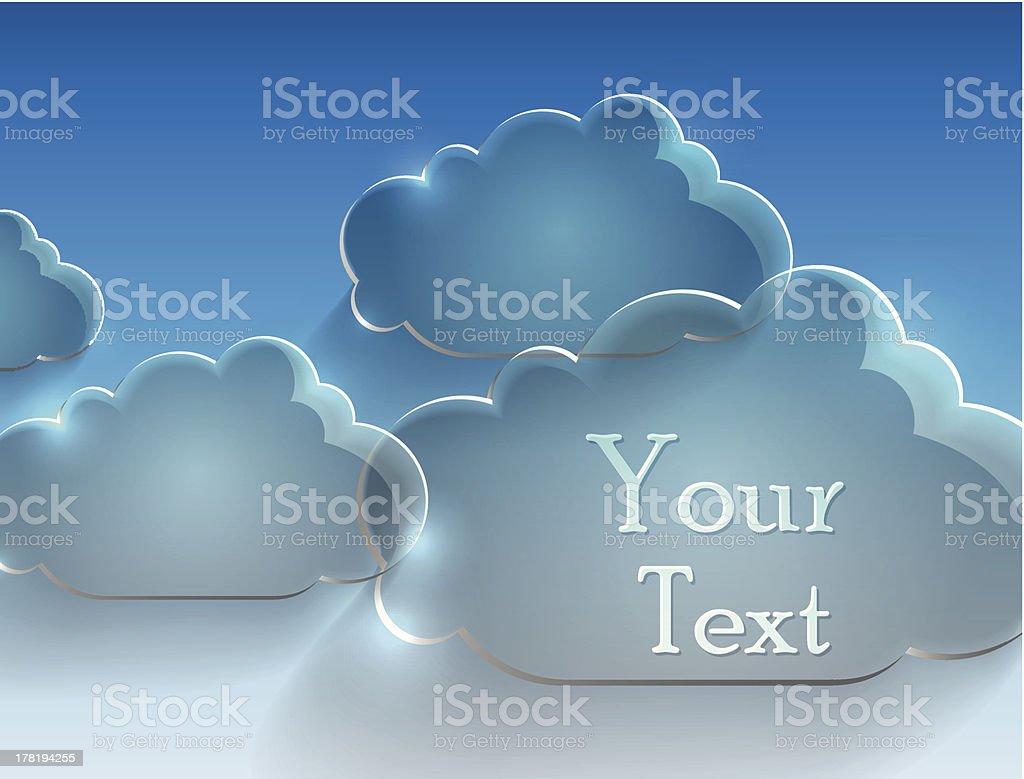 glass cloud royalty-free stock vector art