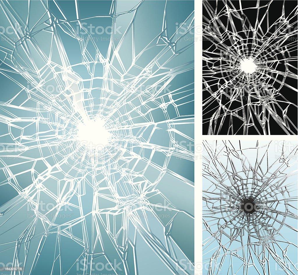 Glass Crushing vector art illustration