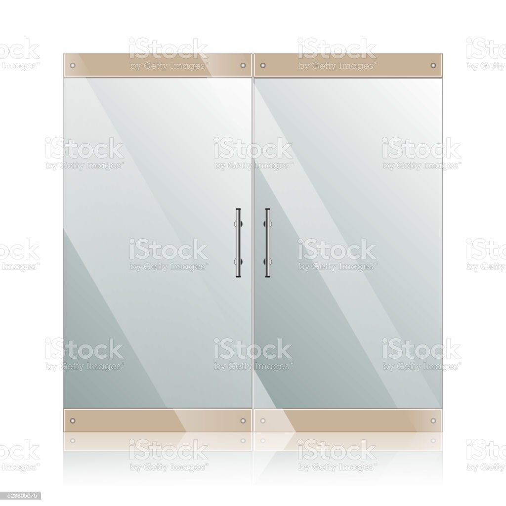 Glass Doors Clipart glass office door clip art, vector images & illustrations - istock