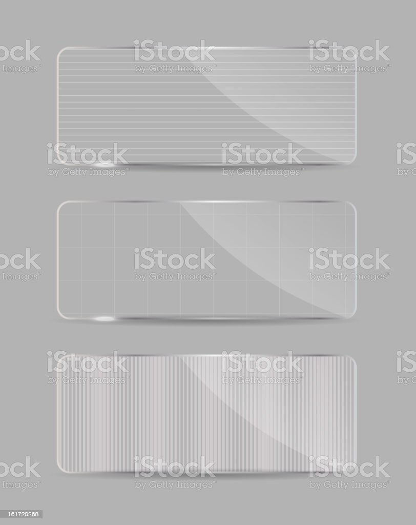 Glass frame on abstract  background. Vector illustration. royalty-free stock vector art