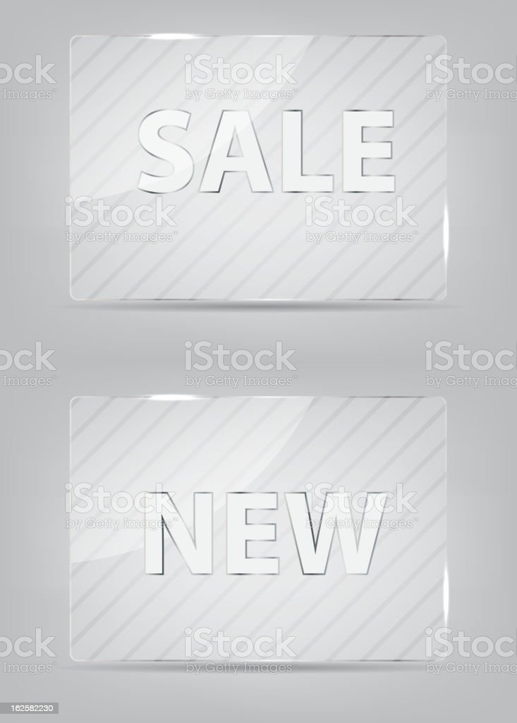 Glass frame on abstract metal background. Vector illustration. royalty-free stock vector art
