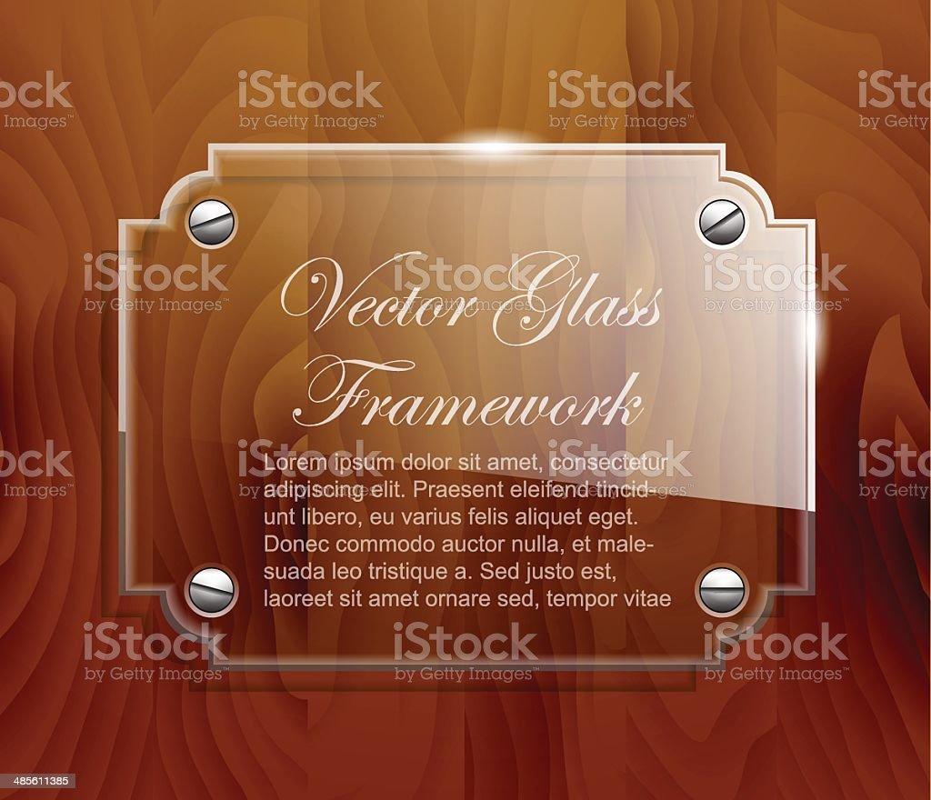 Glass framework royalty-free stock vector art