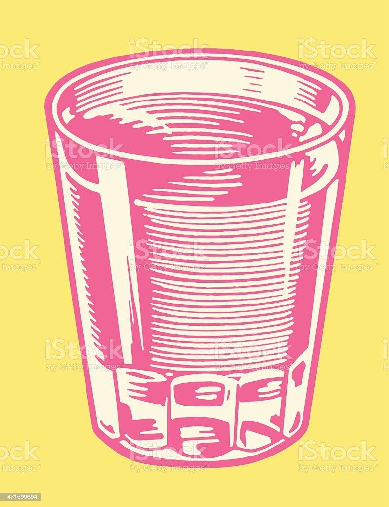 Glass Full of Liquid vector art illustration