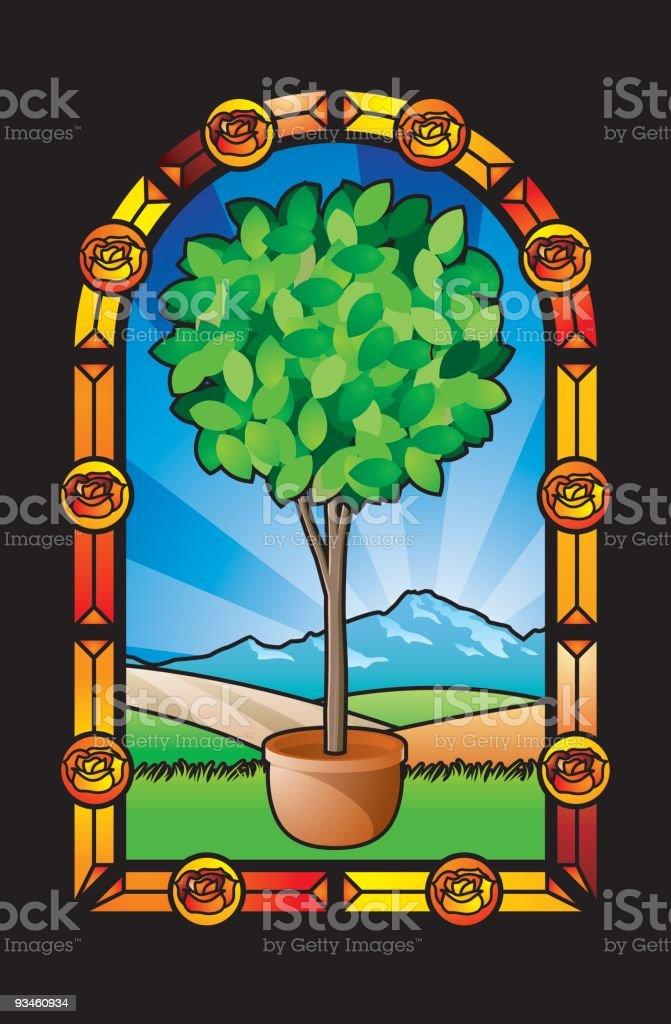 glass garden royalty-free stock vector art