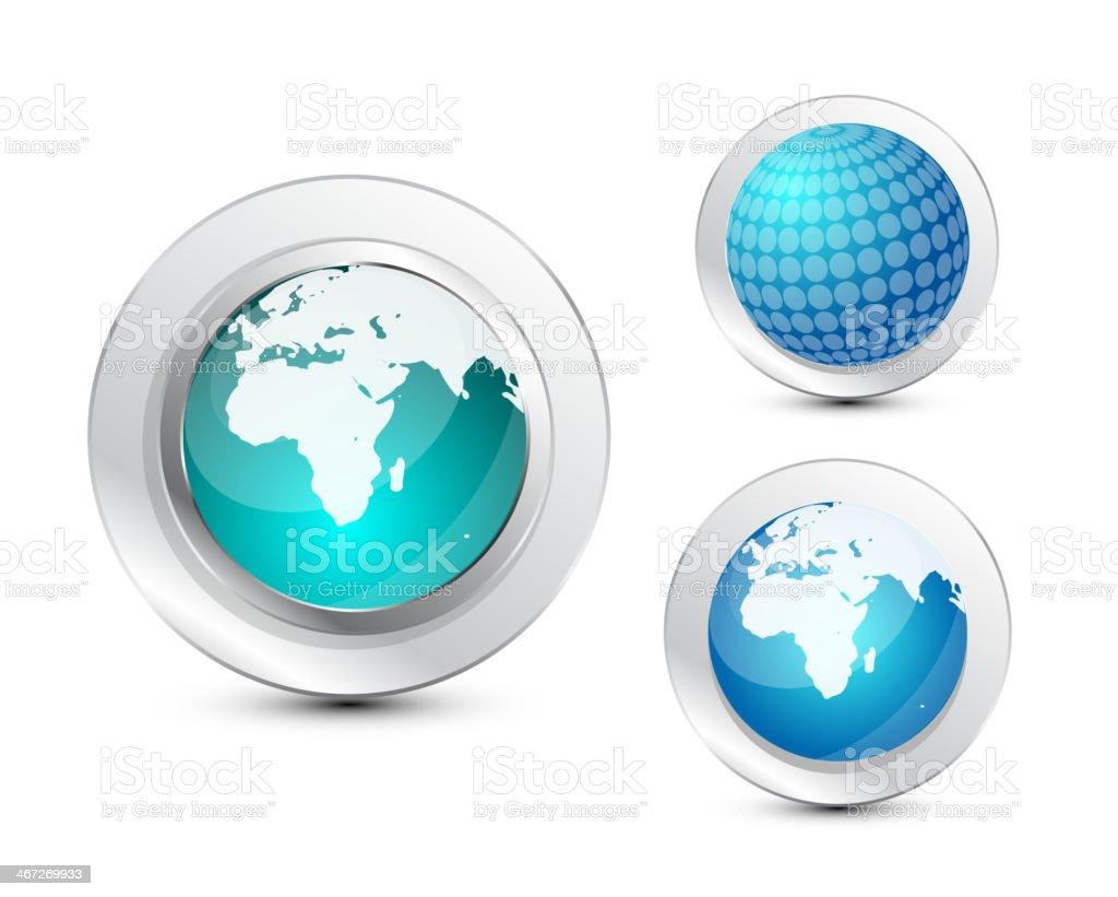 Glass globe icon royalty-free stock vector art