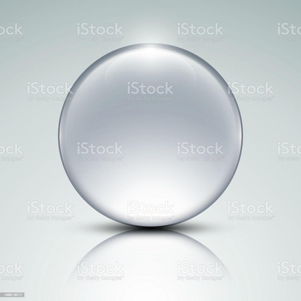 Glass globe vector art illustration