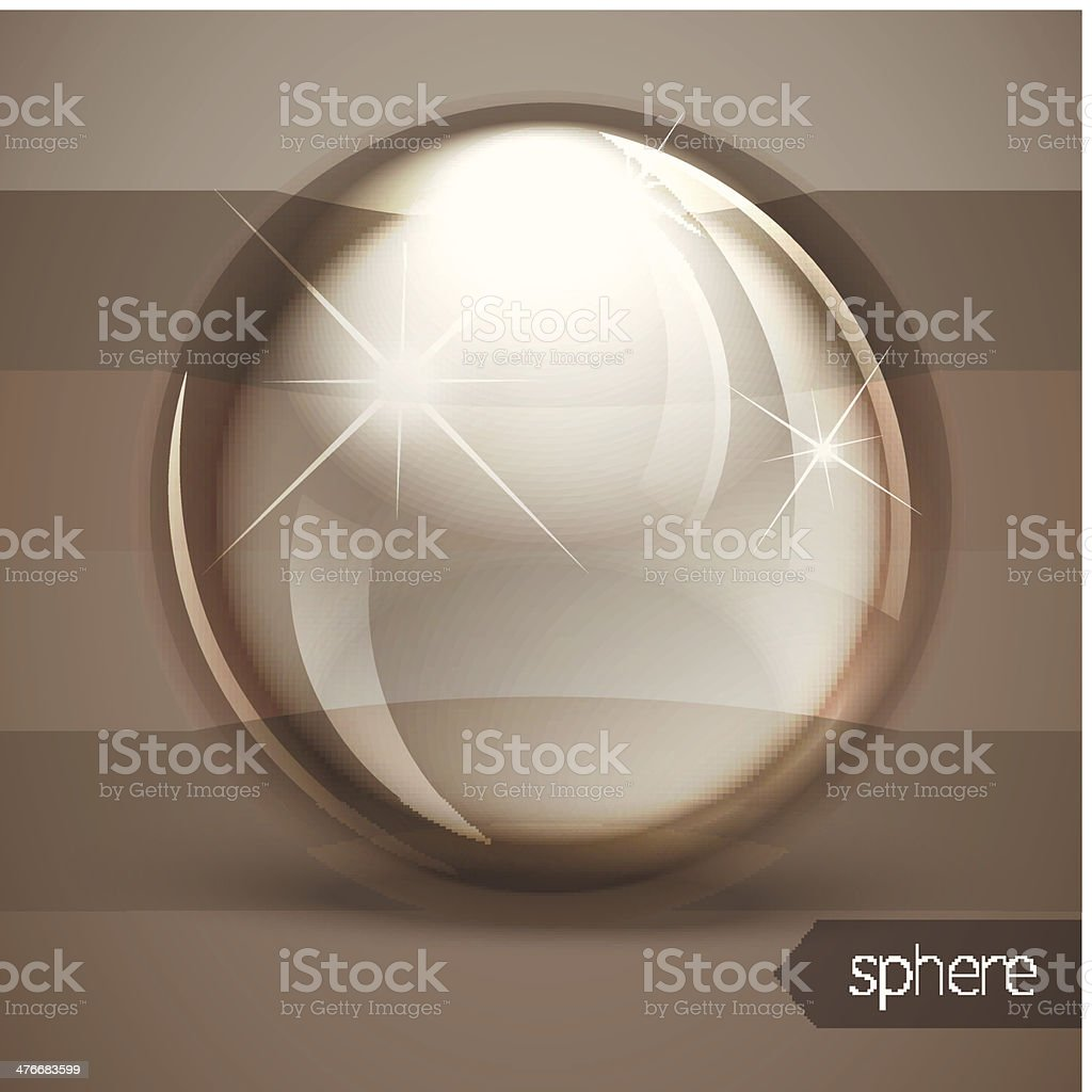 Glass glossy sphere royalty-free stock vector art