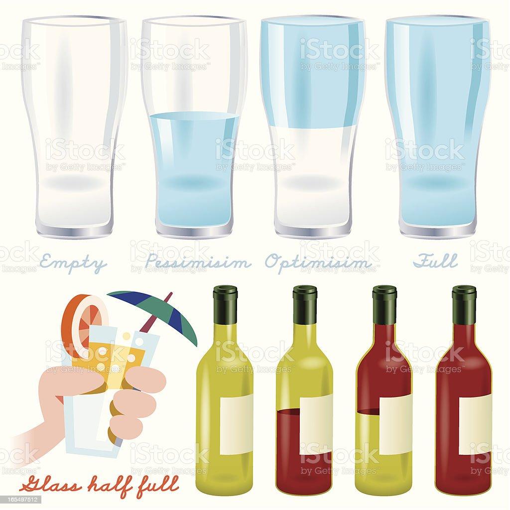 Glass half full royalty-free stock vector art