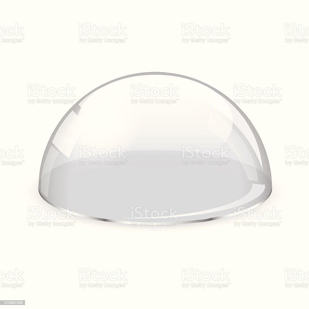 Glass half-sphere vector art illustration