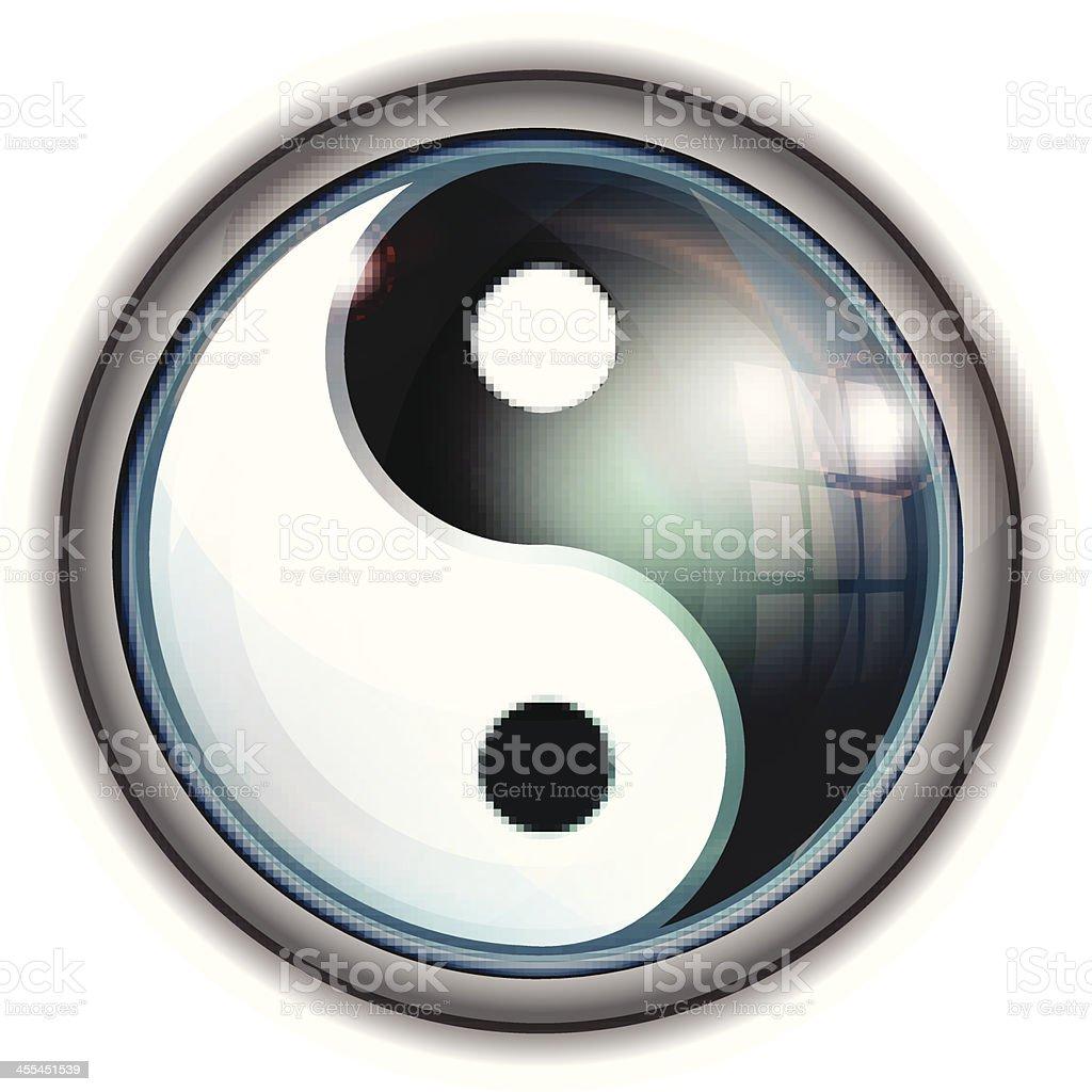 Glass Icon | Yin Yang Symbol royalty-free stock vector art