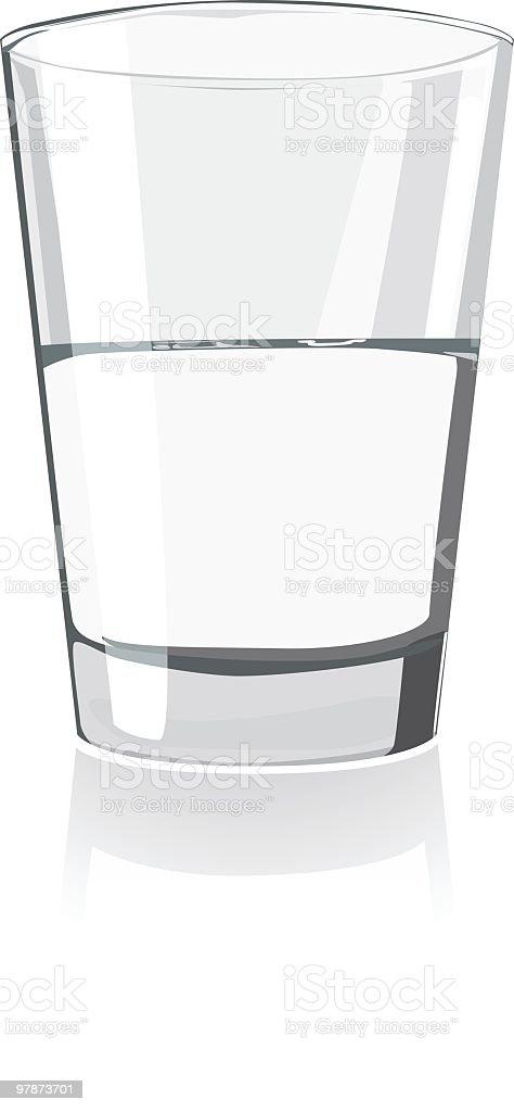 Glass is half full. vector art illustration