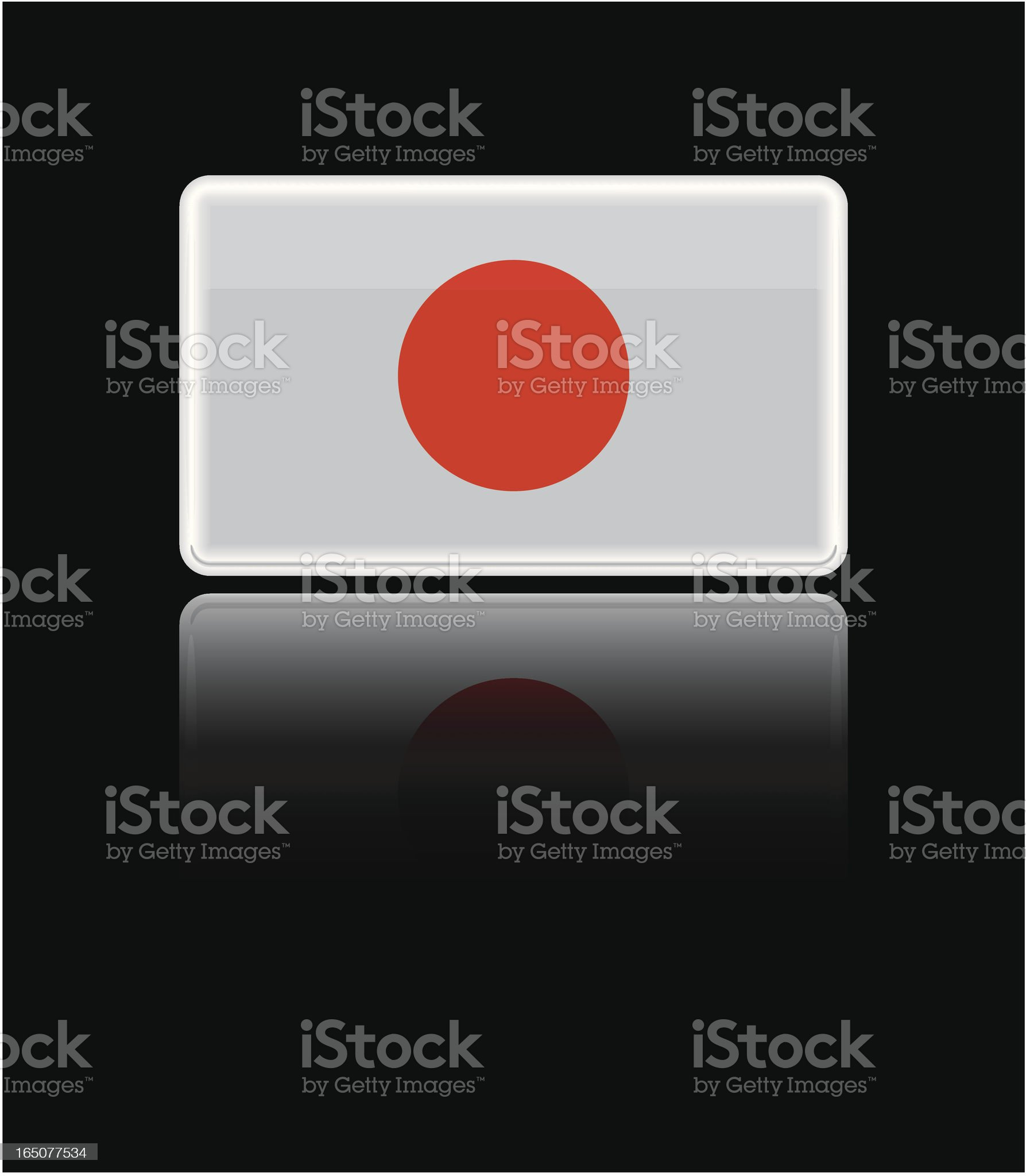 Glass Japanese Flag royalty-free stock vector art