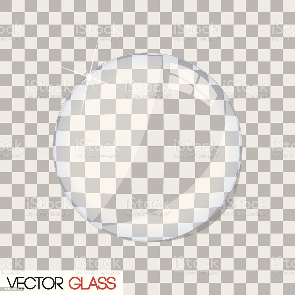 Glass lens vector illustration vector art illustration