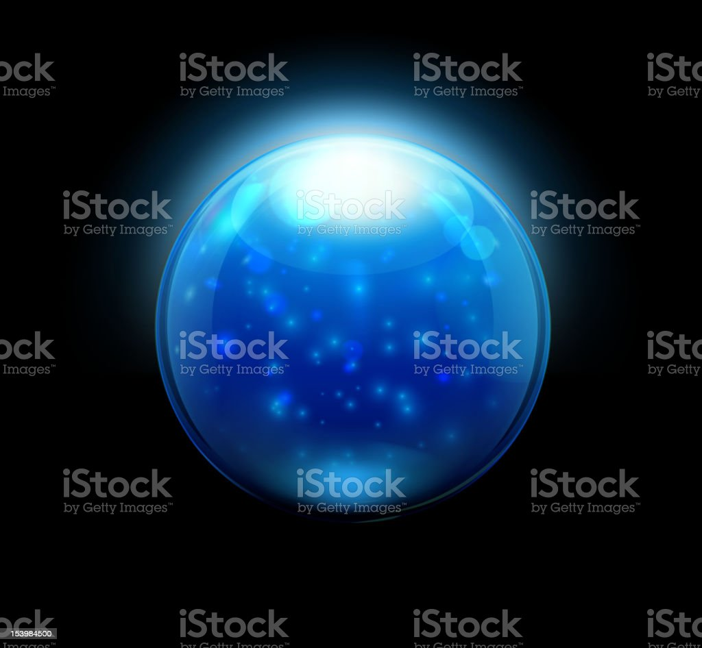 Glass marbles/button sphere royalty-free stock vector art
