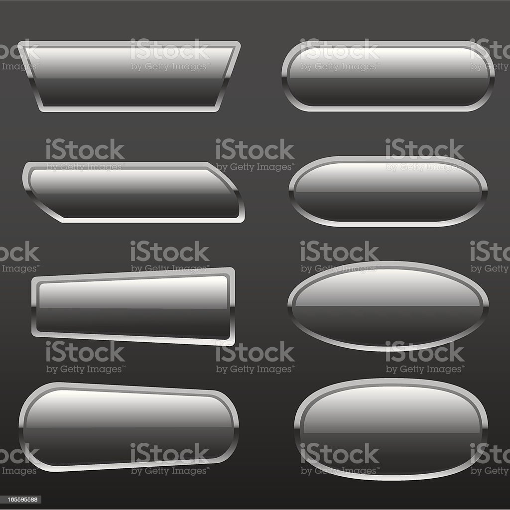 Glass metal button royalty-free stock vector art