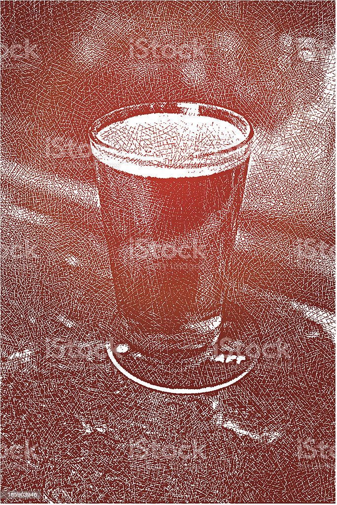 Glass of Beer on Bar royalty-free stock vector art
