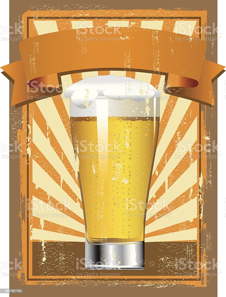 Glass of Beer Sign royalty-free stock vector art