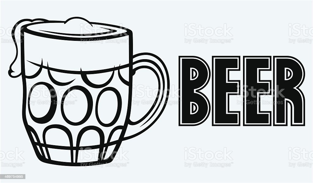 Glass of beer royalty-free stock vector art