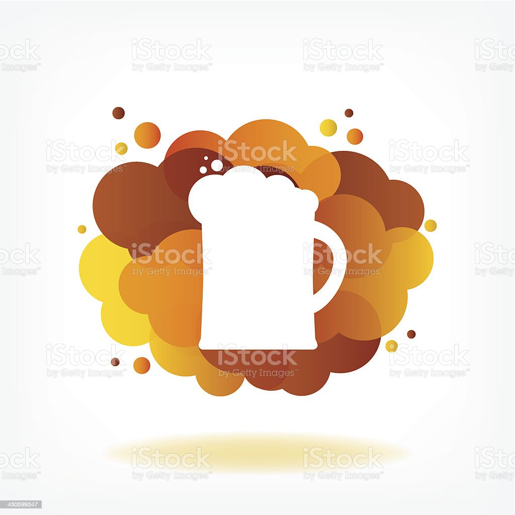 Glass of beer with clouds. royalty-free stock vector art